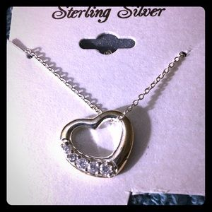 Sterling Silver Chain w Heart-Shaped Pendant NWOT
